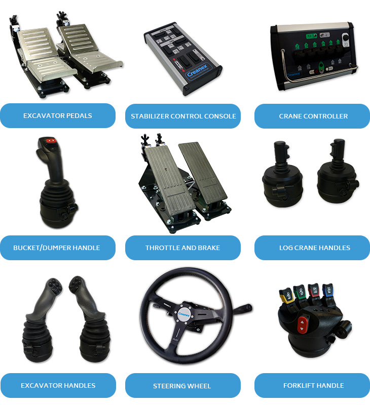 Multimachine Simulator handles and controls
